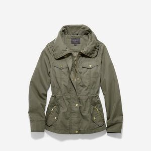 Cole Haan olive green utility jacket